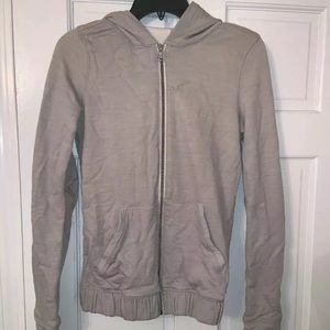 Lulu Lemon Size 0 Light Gray Athletic Sweatshirt